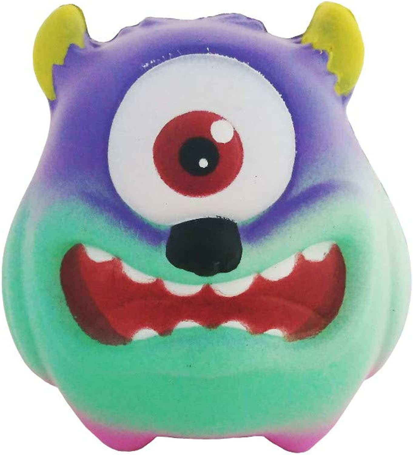 JIAHUADE New Slow Rebound Monocular Monster Squeeze Vent Toy Decorations Halloween Props