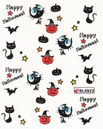 NC Nail Art manucure Stickers décalcomanie pour Ongles: Halloween citrouilles Chats étoiles