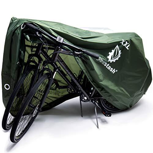 YardStash Bike Cover – XXL, Reflective Bicycle Tarp & Waterproof Bike Covers, Outdoor Storage - Weatherproof Tarps for Bikes, Trikes, Beach Cruisers, 29ers, and Electric Bicycles