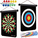 TriMagic Magnetic Dart Board with 12 Safety Darts