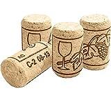 INHEMI 50 Corchos de Vino Tapones de Botella de Corcho Natural para Manualidades,Decoración y Pasatiempos(3.5 x 2 cm)