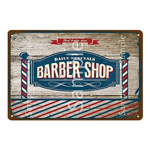 ivAZW Cartel de Metal de barbería Carteles de Chapa Vintage Bar Pub Pintura decoración del hogar decoración de Pared 20x30cm YD10180K