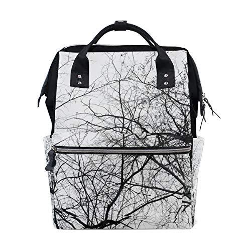 Mochila Casual para Mujer Nature Tree Branch Bag Open Open Work Doctor Style Mochila de Lona para Damas Niñas Mochila