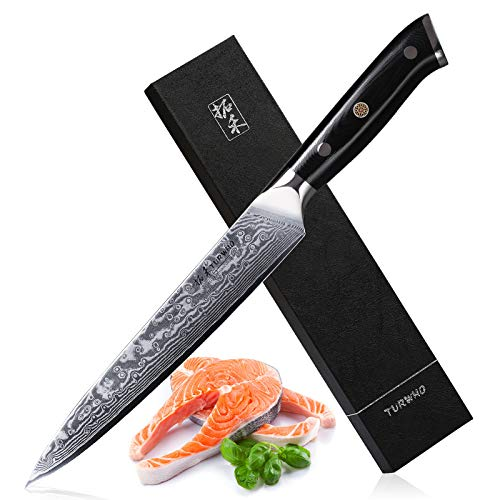 Slicing Knife 8 Inch - Japanese 67 Layer VG-10 Damascus Steel