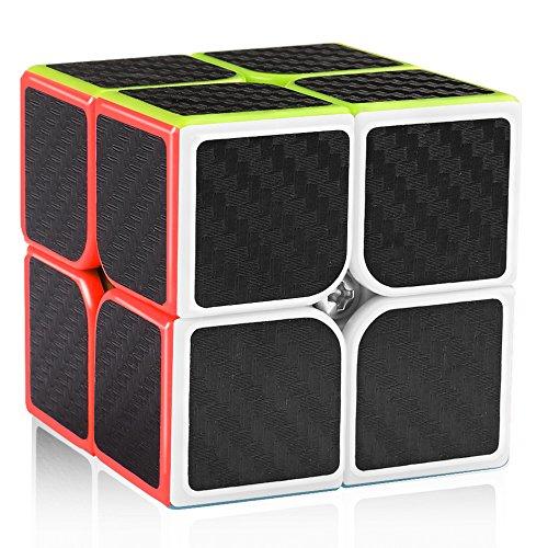 D-FantiX Carbon Fiber 2x2 Speed Cube Magic Cube 2x2x2 Puzzle Toys for Kids