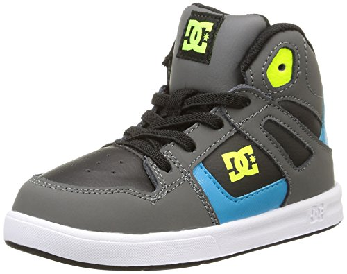 DC Shoes 320167 Zapatos para bebé-niños, color gris, talla 21.5