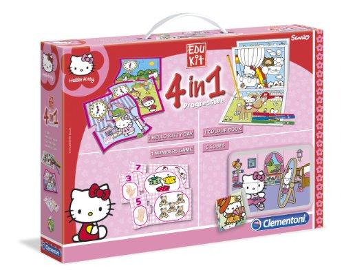 Clementoni - 13776 - Jeu Éducatif et Scientifique - Edukit 4 en 1 - Hello Kitty
