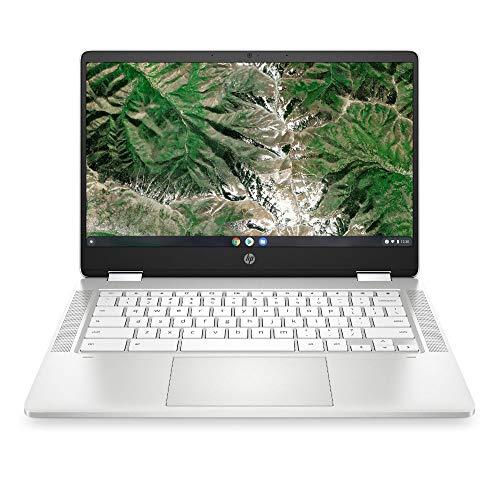 HP Chromebook x360 14a-ca0217ng (14 Zoll / HD Touch) 2in1 Convertible Laptop (Intel Celeron N4020, 4GB LPDDR4 RAM, 64GB eMMC, Intel UHD Grafik, Chrome OS, QWERTZ) weiß - 2