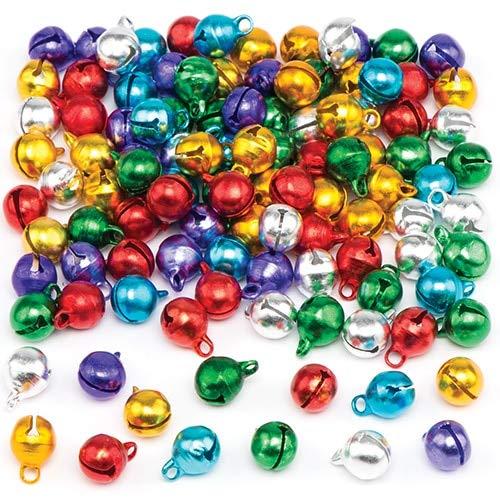 Baker Ross- Mini cascabeles metálicos de Colores – Creative Christmas Art and Craft Suministros para proyectos y...