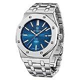 BERSIGAR Elegante y Sofisticado Reloj de Cuarzo para hombresminimalista fácil de Leer, analógico Reloj de Pulsera para hombrespulsera de Acero Inoxidable con Impermeable 30M