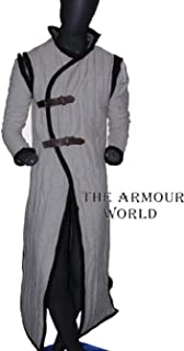 THE ARMOUR WORLD Medieval Gambeson SCA LARP in Standard Sizes White Color Jacket Armor