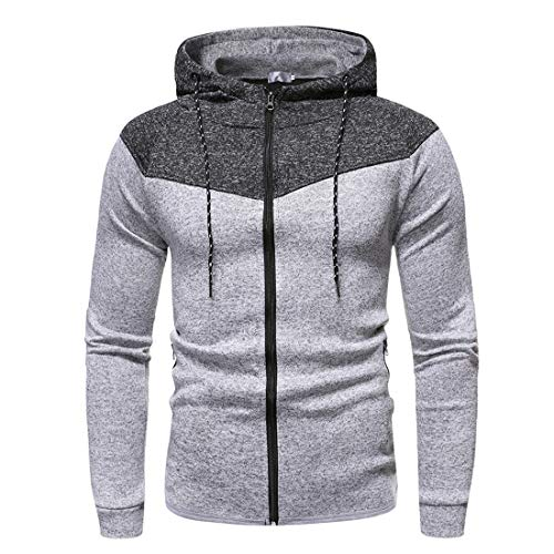 PPPPA Herren Hoodies Zip Up Laufjacke Kapuze Atmungsaktiver Trainingsanzug Top...