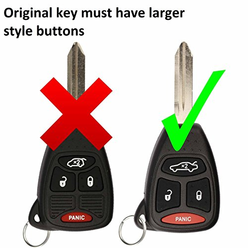 KeylessOption Just the Case Keyless Entry Remote Control Car Key Fob Shell Replacement for KOBDT04A