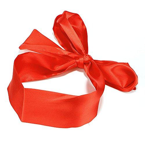 CuiGuoPing Augenbinde, SM Bondage Ribbon, 1,5 M, zum Flirten zwischen Paaren (Rotes Satinband)