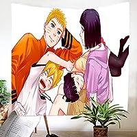 タペストリー ナルトアニメタペストリー壁掛け家の装飾サイケデリックな壁布アニメパターン壁カーペット布アート-150X100Cm