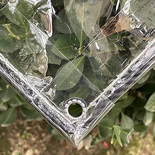 WMEIE Lonas Impermeables Exterior, Cubierta De Lona Transparente De Vidrio Suave De Cortina De Invernadero De Jardín Transparente Resistente De 0.3Mm,Clear,1.5x2m