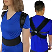 "ComfyMed Posture Corrector Clavicle Chest Support Brace for Men and Women CM-PB16 (REG 29"" to 40"") Medical Device to Improve Bad Posture, Shoulder Alignment, Upper Back Pain Relief"