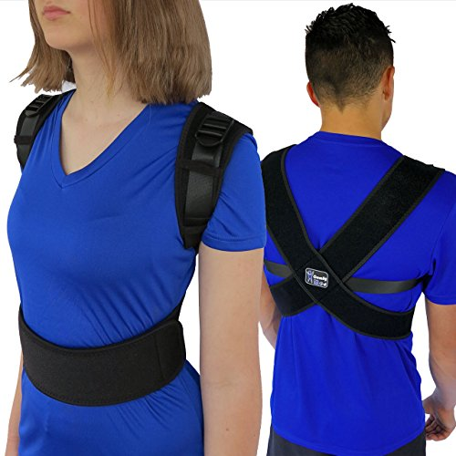 ComfyMed® Posture Corrector Clavicle Support Brace CM-PB16 Device to Improve Bad Posture, Thoracic Kyphosis, Shoulder Alignment, Upper Back Pain Relief for Men and Women (REG (29'-40' Chest))