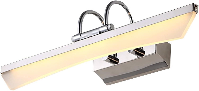 Home experience- Simple Mirror Front Light LED Light Dresser Make-up Beleuchtung Lampe Bad Wand Spiegel Scheinwerfer (Farbe   Warmes weies Licht-L 7W-55cm)