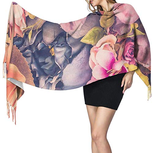 Bufanda grande para mujer, temporada otoñal, elegante, rosa, suave sensación de cachemira, pashmina, chales