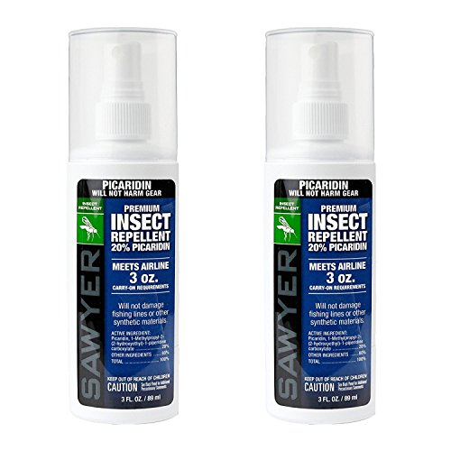 Sawyer Products SP5432 Premium Insect Repellent with 20% Picaridin, Pump Spray, Twin Pack, 3-Ounce