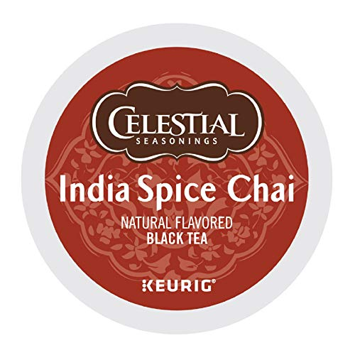 Celestial Seasonings India Spice Chai Black Tea, Single-Serve Keurig K-Cup Pods, 96 Count