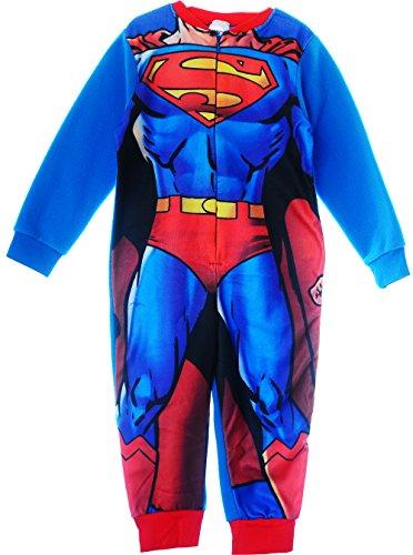 Superman Pyjama Kinder Schlafanzug Overall Strampler Reißverschluss 4/5J. (104/110)