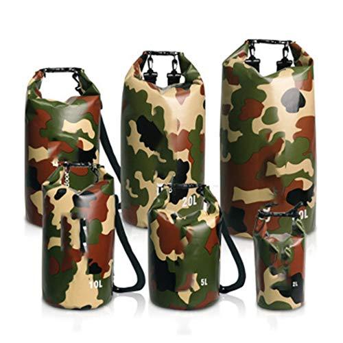 Jancerkmou - Mochila impermeable de camuflaje para exteriores, bolsa seca, kayak, rafting, deportes, almacenamiento portátil, camping, viajes, rio, trekking, bolsa de camuflaje, verde, XXXL