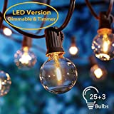 8.3 Meter Lichterkette Außen【Dimmbar&Timer】, G40 28pcs LED Glühbirnen OxyLED Lichterkette...