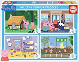 Educa- Multi 4 Junior, Puzzle Infantil Peppa Pig de 20, 40, 60 y 80 Piezas (18645) , color/modelo surtido