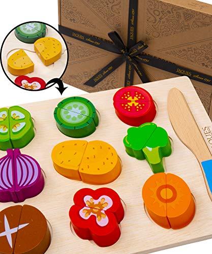 Jaques of London Giocare Cibo in Legno - Let's Pretendere Vegetable Board - Perfetto Toddler Toys Giocattoli Bambino Giocattoli per Bambini e Bambini Giocattoli dal 1795