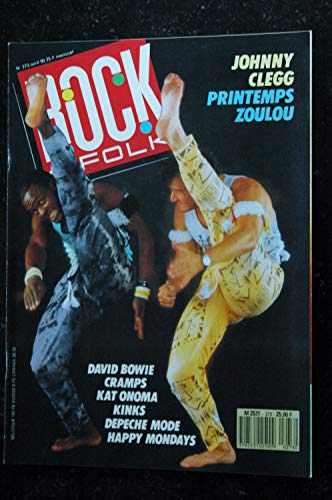 ROCK & FOLK 273 AVRIL 1990 COVER JOHNNY CLEGG DAVID BOWIE DEPECHE MODE CRAMPS KAT ONOMA KINKS