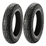 MMG TIRE SET Front 3.00-10 Rear 3.-50-10 for Scooters Mopeds 10 Inches Rim