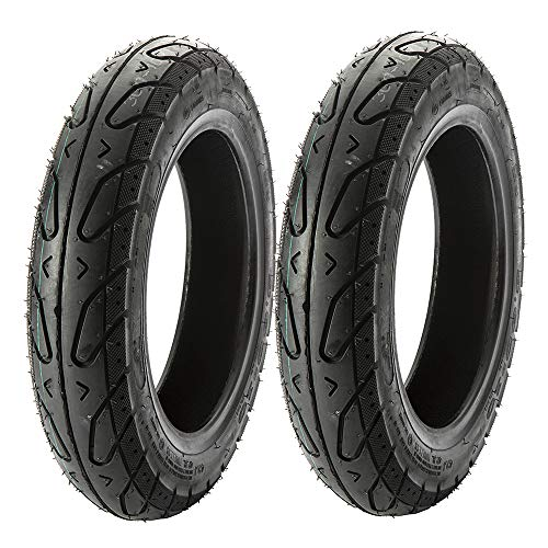 MMG Set of 2 Scooter Tubeless Street Tire 3.50-10 Front or Rear fits on 10 Inch Rim