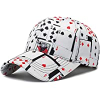 WISHLOL Poker Game Playing Card Adjustable Cotton Baseball Hat