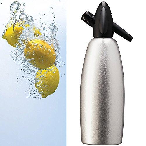 Sifone Kayser per Seltz, Bottiglia da 1 litro Acqua Gasata Barman Spritz Cocktail