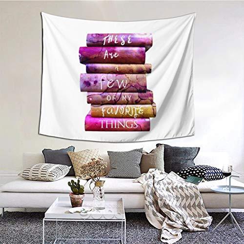 Daisylove Stack Of Books - Tapiz para colgar en la pared, diseño hippie, tapiz psicodélico para decoración del hogar, sala de estar, dormitorio, estudiante, dormitorio, TV Telón de fondo, 152 x 51 pulgadas