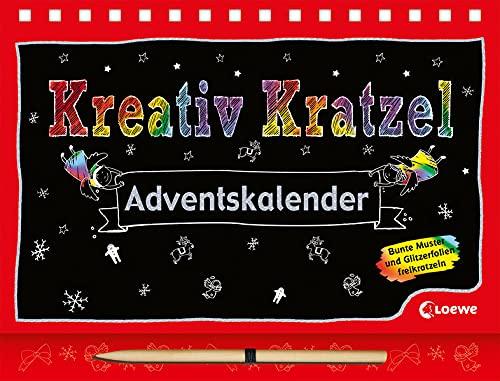 Kreativ-Kratzel-Adventskalender: Weihnachtliche Kratz-Beschäftigung für Kinder ab 5 Jahre (Kreativ-Kratzelbuch)