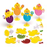 """Baker Ross Bastelsets """"Osterküken"""" mit Hüpffunktion – Perfekt als Ostergeschenk oder als kleine Party-Überraschung für Kinder (6 Stück)"""