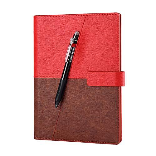 PPuujia Cuaderno de piel inteligente reutilizable borrable para microondas y ondas de...
