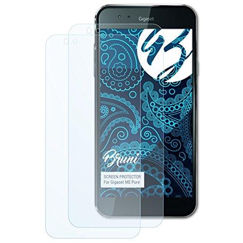 Bruni Schutzfolie kompatibel mit Gigaset ME Pure Folie, glasklare Bildschirmschutzfolie (2X)