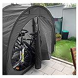 CHILD FENCE Carpa con Dosel para Bicicletas Cobertizo para Almacenamiento de Bicicletas Tienda de Campaña Bicicletas, para Acampar en el Patio al Aire Libre Senderismo,Negro