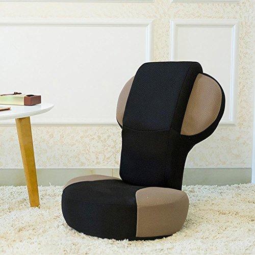 KSUNGB Respirant Fainéant Canapé Individuel Chaise Pliante Canapé d'étage Dossier de lit, Brown
