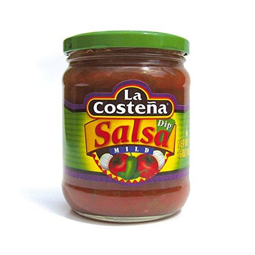 La Costena Salsa Dip Hot | 410ml | Mexikanische Küche | feurig scharf | Perfekt zu Fingerfood | Hervorragender Geschmack