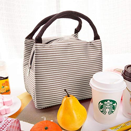 HeBiShiZeLiJianCaiXiaoShouYouXianGongSi Isolierung-Speicher-Beutel-Handtasche Multifunktionstuch Hitze Erhaltung Kälte, Größe: 23x17x15cm, einfach und elegant (Color : Grey)