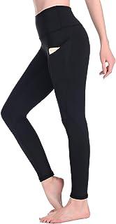 Leggings Mujer Deporte Cintura Alta Mallas Pantalones Deportivos Leggins con Bolsillos para Yoga Running Fitness y Ejercicio Oc01