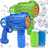 Hwook Bubble Machine for Kids, Bubble Guns of 2-Pack, Automatic Bubble Maker Party Toys,Bubble Gun for Toddlers, Rich Colorful Bubbles Parties Outdoors Activity, Easter, Birthday Gift