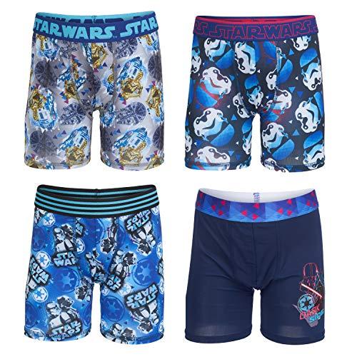 Star Wars Big Boy's Star Wars Athletic Boxer Brief Underwear, Swarsmulti, 10