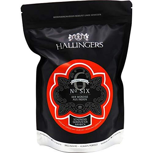 Hallingers Gourmet-Kaffee aus Indien, schonend langzeit-geröstet (500g) - No. Six (Aromabeutel) - zu Passt immer