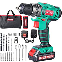 🌟【21 + 1 TORQUE SETTINGS AND CHARGER FOR FAST CHARGE】 The Cordless Drill has 21 different torque settings and drilling functions. It can be used to drill wood, metal, plastic and all the activities of a screwdriver. Maximum torque 30 N.m for screws. ...